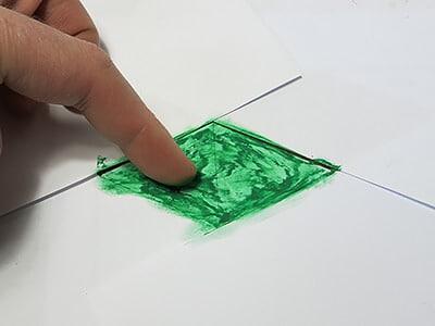 Ölpastellfarbe verwischen