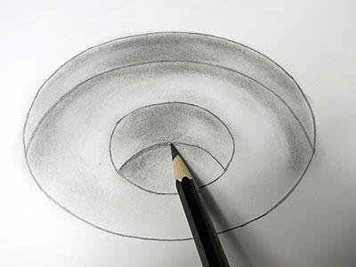 3d Zeichnen Stufiges Loch Kreativraum24