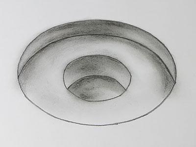 3D Zeichnen Loch