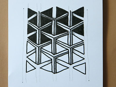3d Zeichnen Tangle Kreativraum24