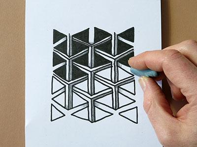 3D Zeichnen einfache Übung