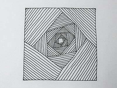 Leichte 3D Zeichnung