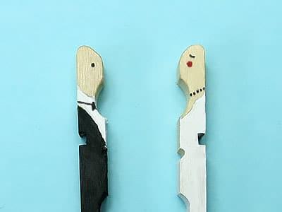 brautpaar aus wscheklammern bastelnideen brautpaar. Black Bedroom Furniture Sets. Home Design Ideas