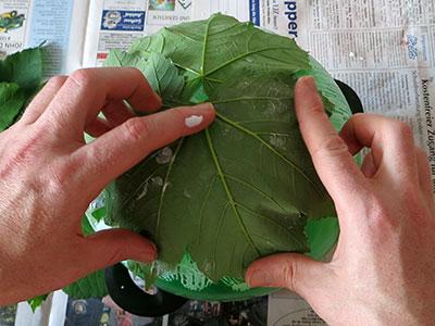 Blätterkorb basteln
