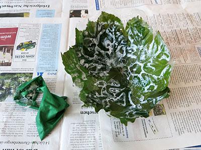 Korb aus Blätter