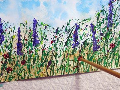 eine Blumenwiese malen