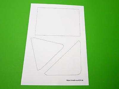 Briefumschlag Vorlage DIN A6