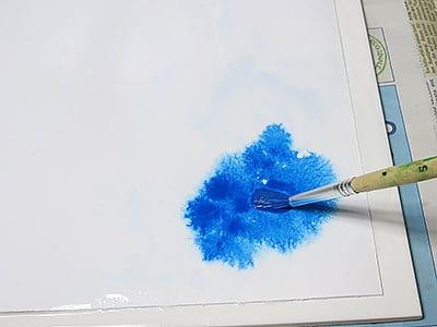 Wasserfarben laufen lassen