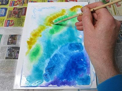 Wasserfarben Muster malen