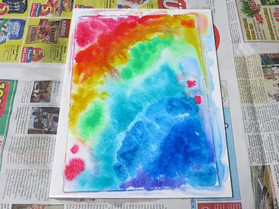 Buntes Wasserfarben Bild