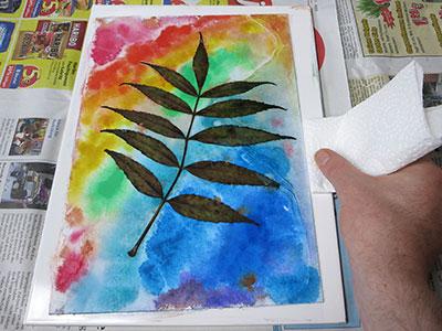 Gepresster Blätterabdruck