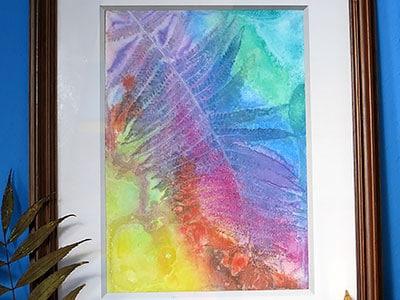 DIY ART - bunte Blätter
