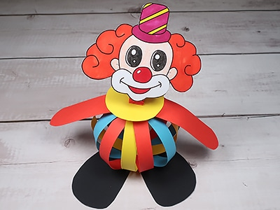 Papier Clown basteln