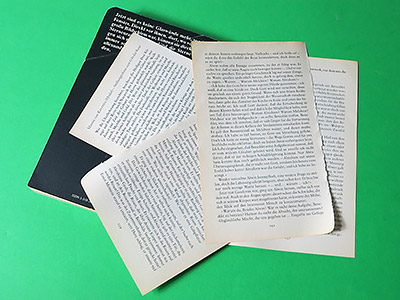Alte Buchseiten