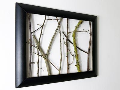 Deko selber machen - Wandbild mit Zweigen | kreativraum24