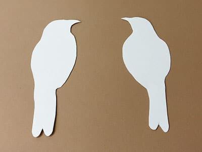 Vogel Silhouetten Rohlinge
