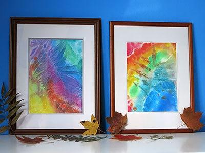 Bunte Blätter - Wasserfarben