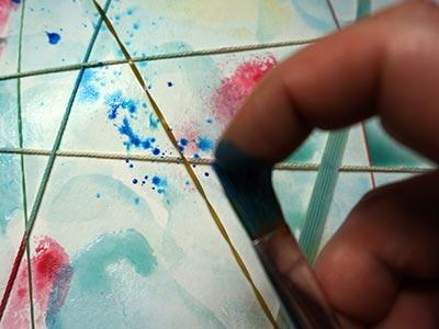 Wasserfarben spritzen