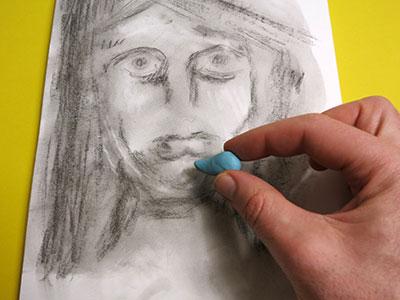 ein Gesicht zeichnen mit Highlights