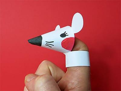 Fingerspiel Maus basteln