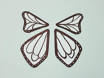 Schmetterling Flügel zeichnen