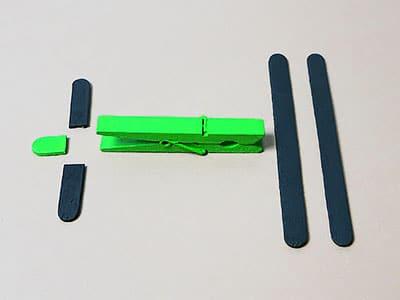 Holzflugzeug Einzelteile
