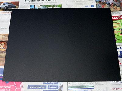 Schwarzes Tonpapier für Galaxie