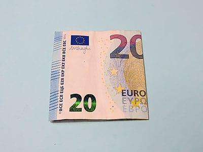 Geldschein Segel falten