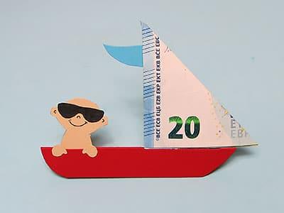 Geldgeschenk Boot basteln