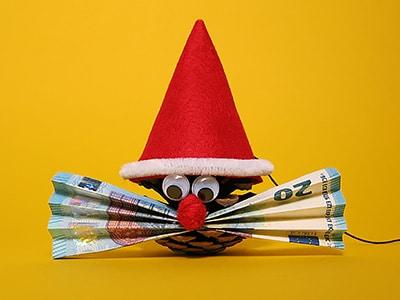 Geldgeschenk Fur Weihnachten Zapfenwichtel Kreativraum24