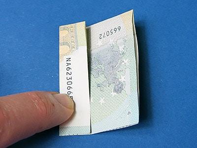 Geld Würfel falten - Schritt 4
