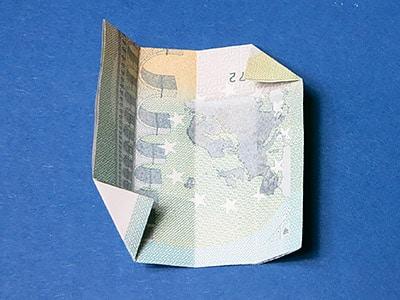 Geld Würfel falten - Schritt 6