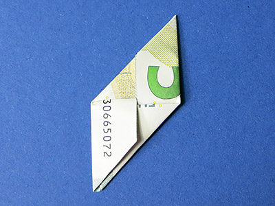 Geld Würfel falten - Schritt 10