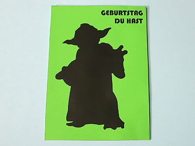Yoda Geburtstags Karte