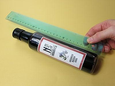 Flaschengröße messen