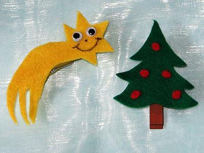 Weihnachtsbaum und Sternschnuppe für Geschenke