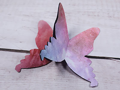 Schmetterlinge zusammenkleben