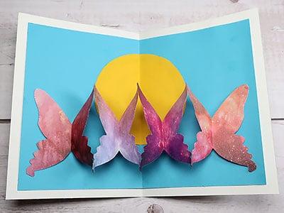 Geschenkkarte basteln - Schmetterlinge