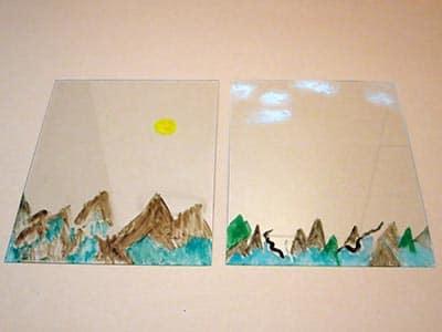 Malen auf Glas
