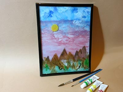 Auf Glas Malen Mit Tiefenwirkung Kreativraum24