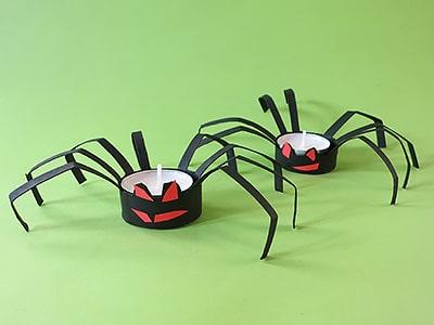 Halloween Deko Spinne basteln