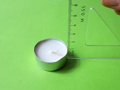 Teelicht Höhe messen
