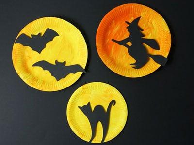 Halloween Deko aus Papptellern