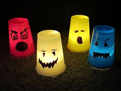 Halloween Gespenster Lichter basteln