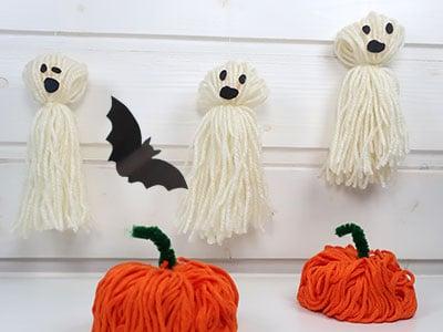 Halloween Deko - Kürbis, Geist basteln