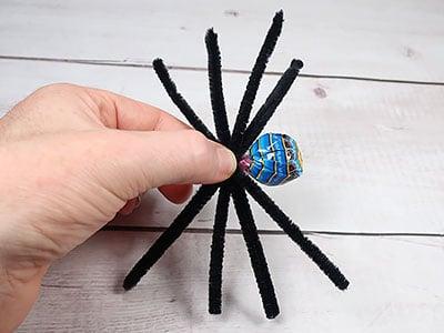 Lolli Spinne - Körper basteln