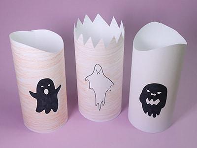 Halloween Papier Leuchten basteln