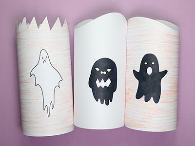 Halloween Papier Leuchten