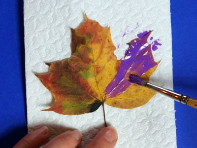 Herbstkarten malen
