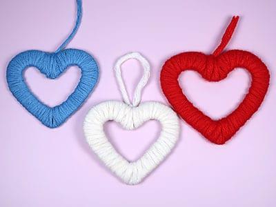 Herz aus Wolle basteln